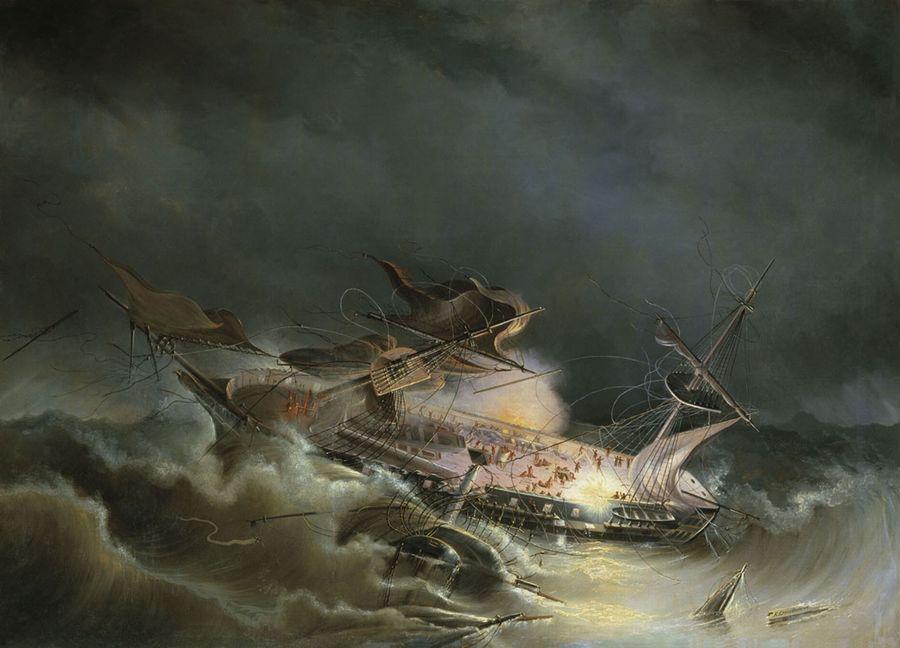Круговіхин - руйнування корабля Інгерманланд 30 серпня 1842 року біля берегів Норвегії. 1843
