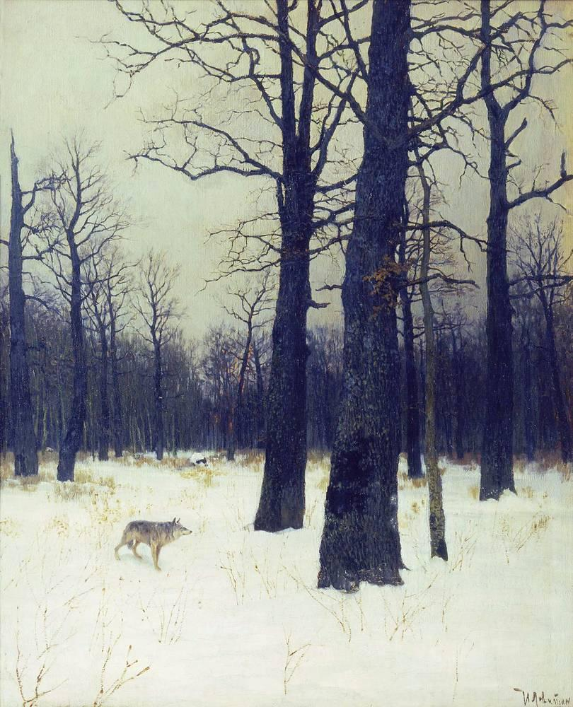 Isaac Levitan - In the forest at winter, 1885