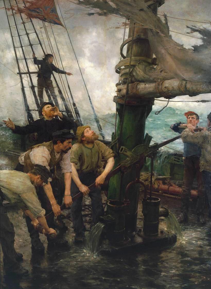 Henry Scott Tuke All Hands to the Pumps 1888