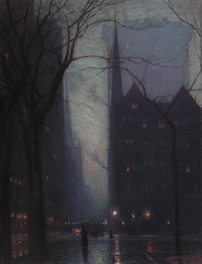 Бірдж Харрісон - П'ята Авеню в сутінки 1910