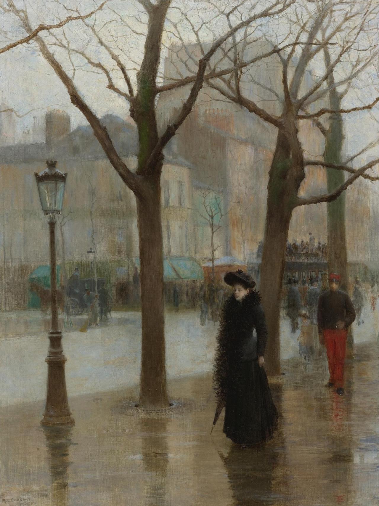 Paul Cornoyer (1864-1923)  Paris Street in Winter