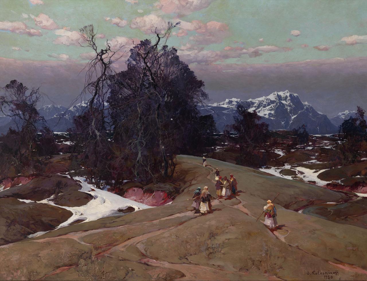 Stepan Kolesnikov - Mountain landscape, 1930