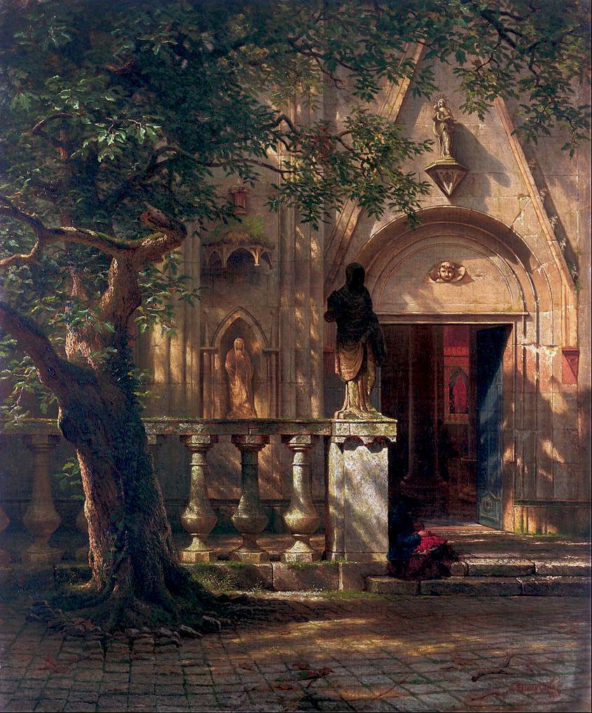 Albert Bierstadt - Sunlight and Shadow, 1862