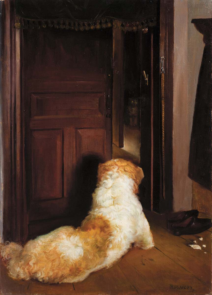 Valentyn Semenovych Shcherbakov (1880 - 1957) In anticipation of a cat