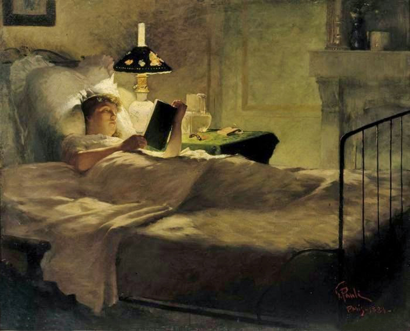 George Pauly -  Evening Reading, 1884