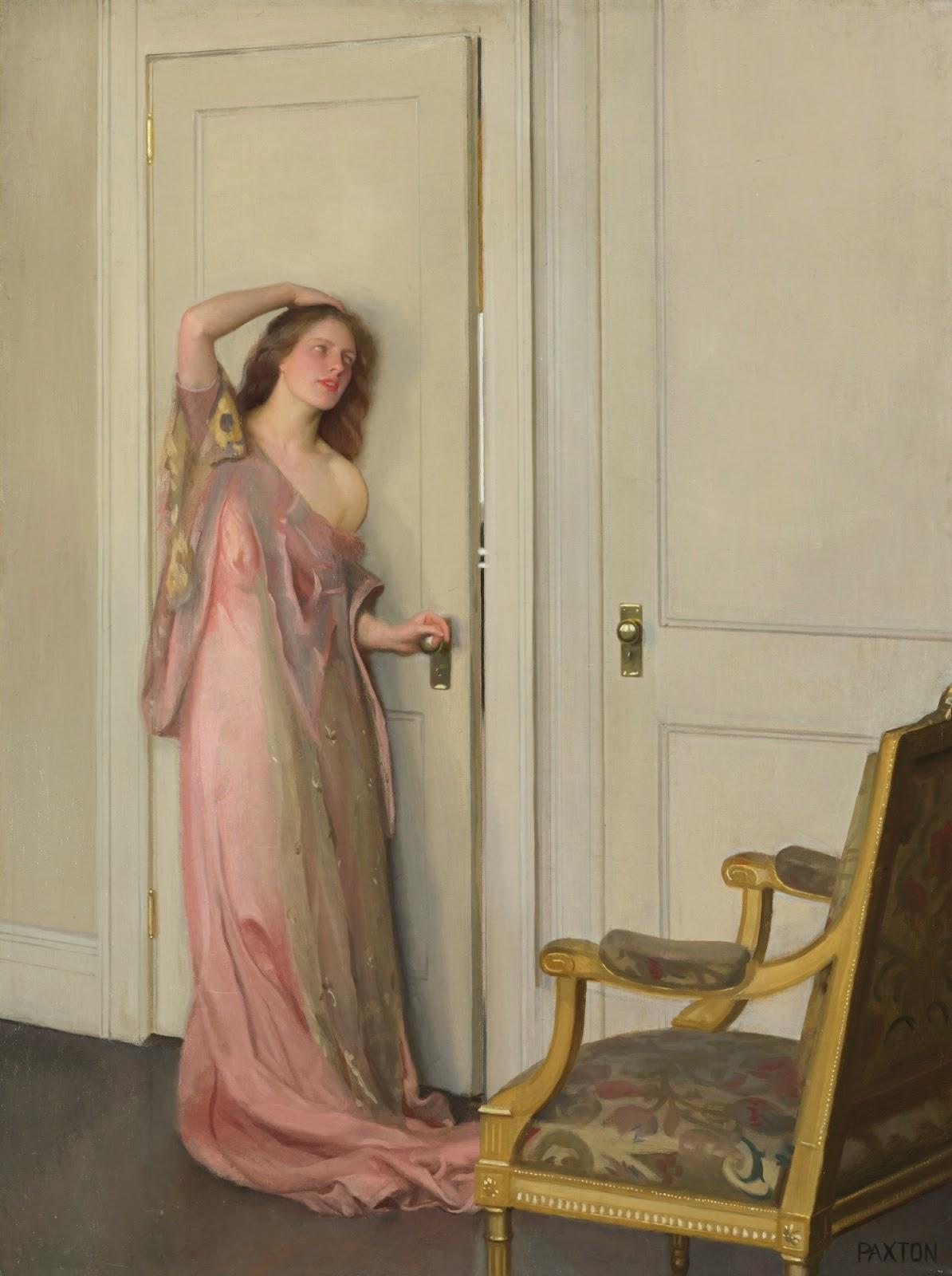 William McGregor Paxton - The Other Door, 1917