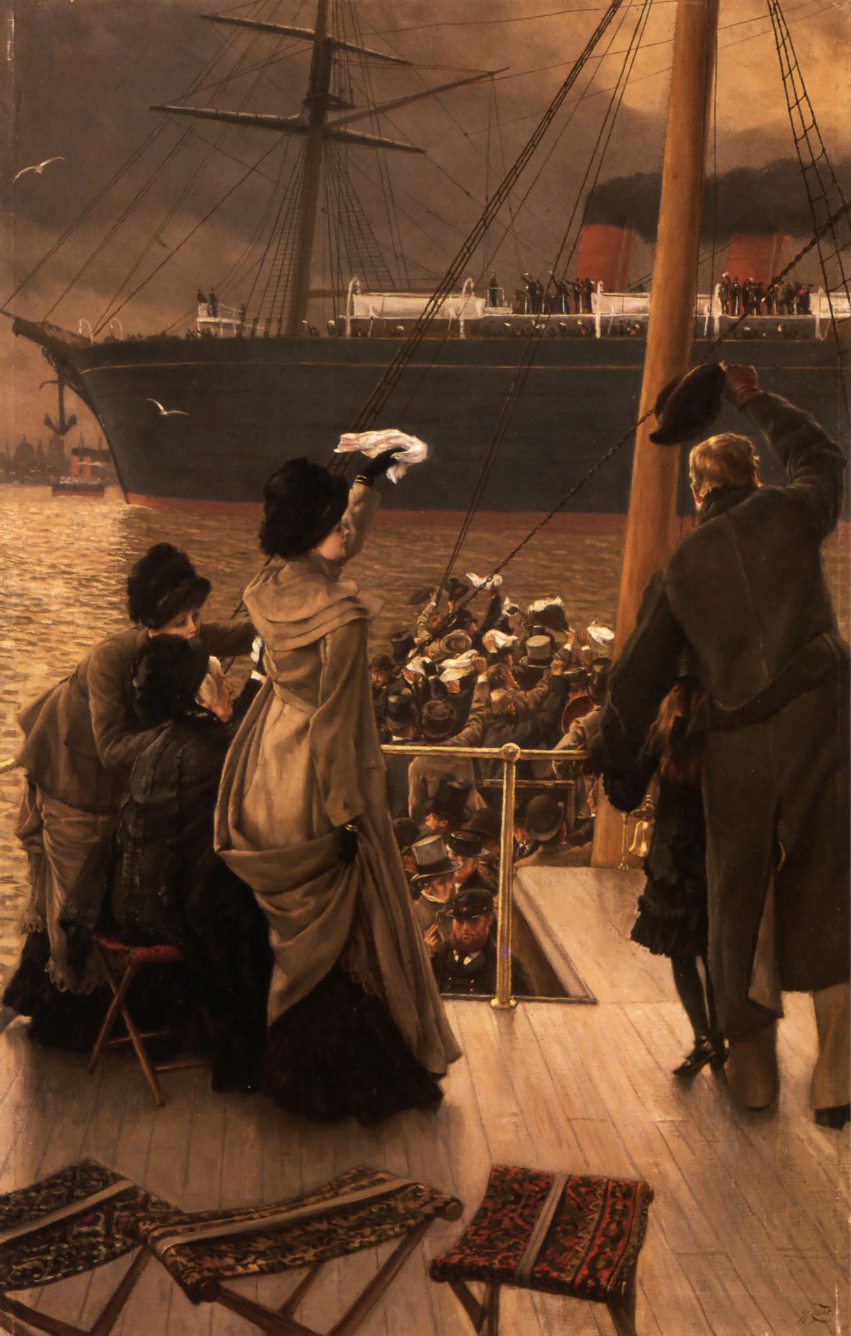 James Jacques Joseph Tissot - Goodbye on the Mersey, 1881