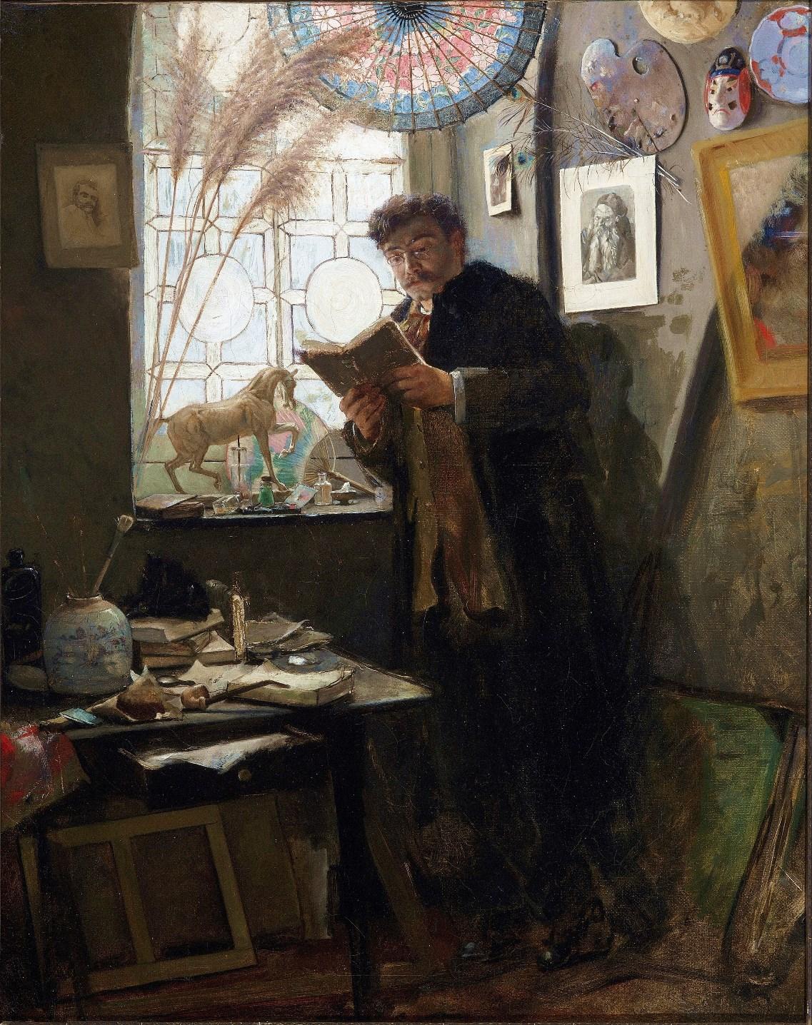Alfred Stevens (1823-1906) - Camille Lemonnier