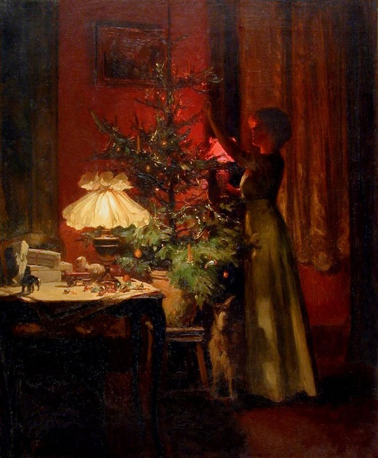 Marcel Rieder - Decorating the Christmas Tree, 1898