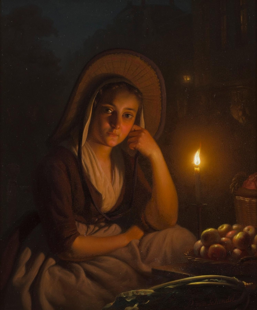 Petrus Van Schendel (1806 - 1870) ,By the Candlelight