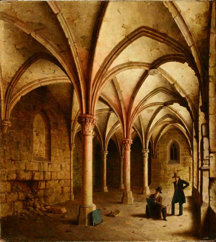 Carl Hasenpflug - Cloisters at Abbey Walkenried, 1839