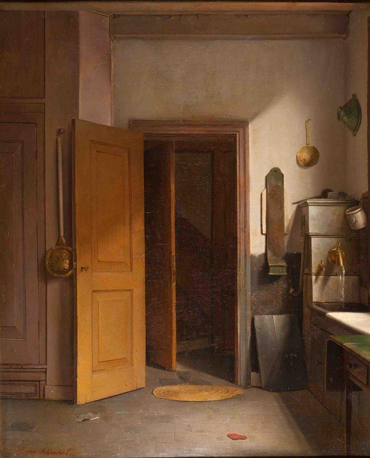 Petrus van Schendel - De keuken, 1835
