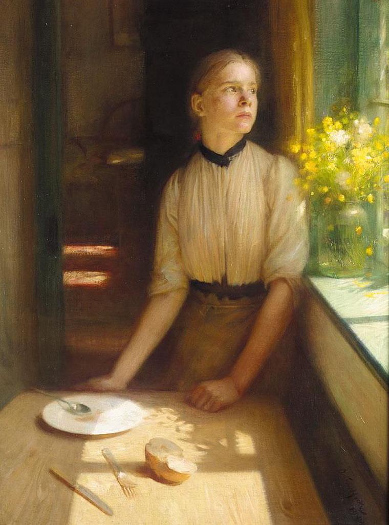 Arthur Hacker - Imprisoned Spring, 1911