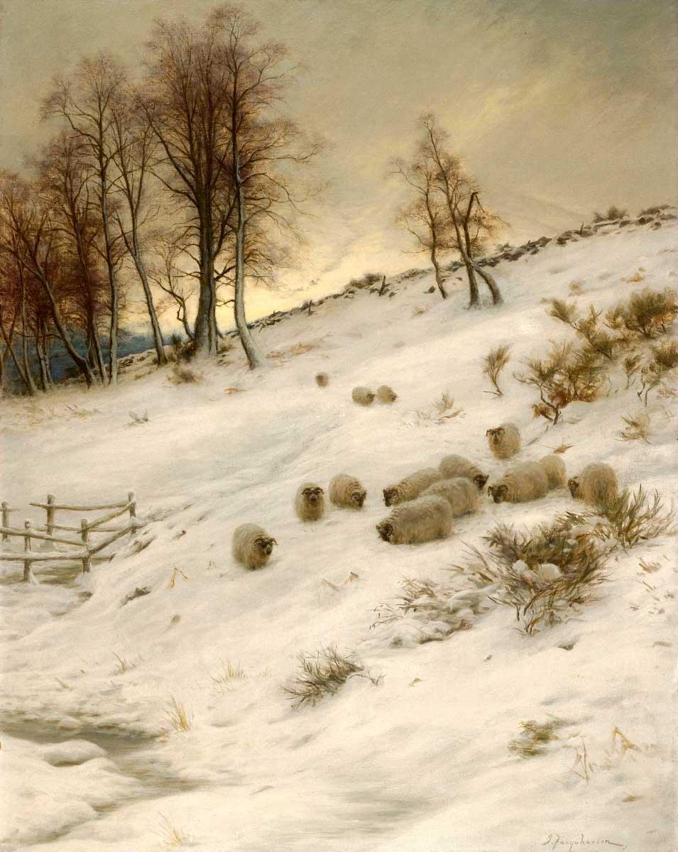 Joseph Farquharson (1846-1935) - A Surrey Lane