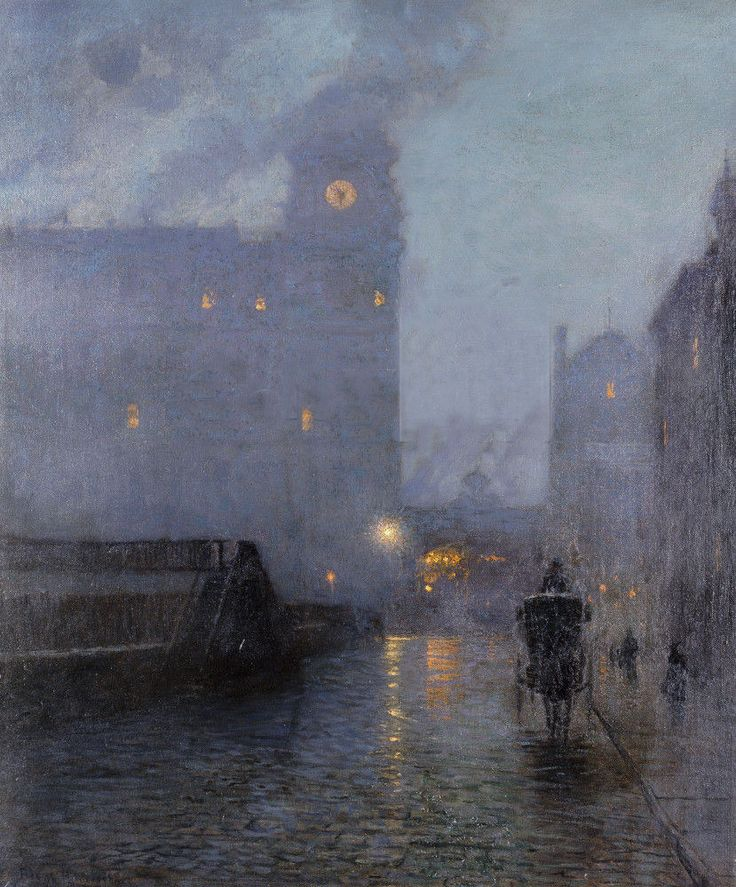 Lowell Birge Harrison (1854-1929) . Grand Central and the Biltmore in Hazy