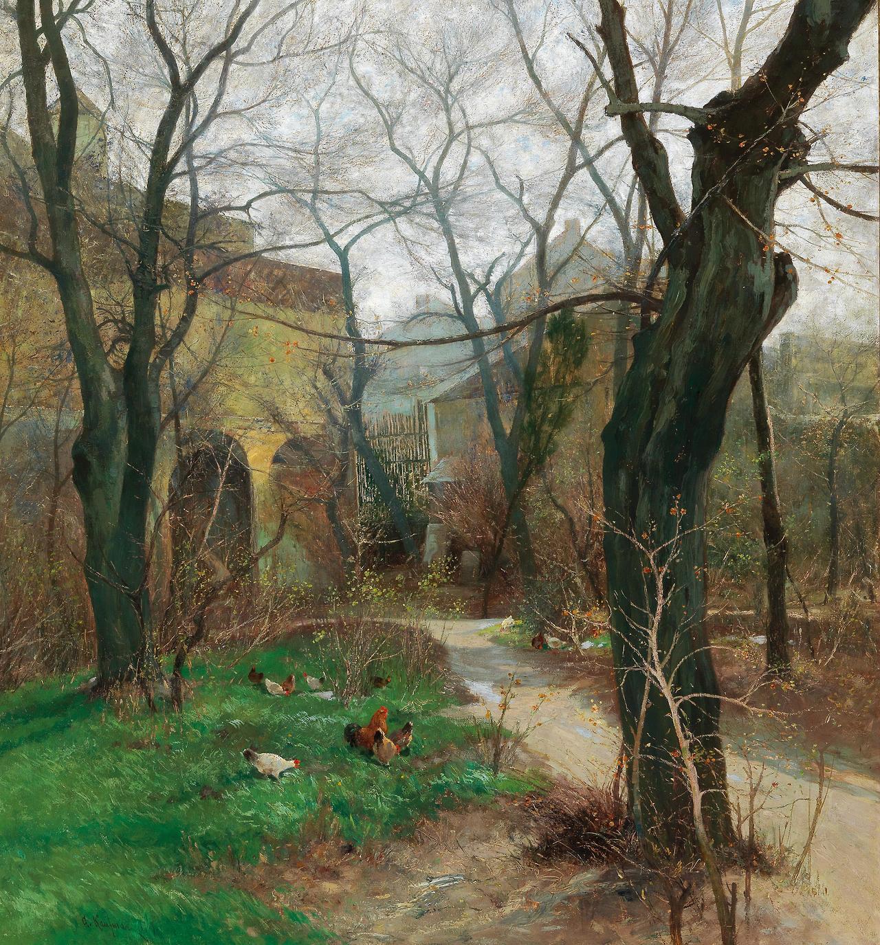 Adolf Kaufmann (1848–1916) Early spring