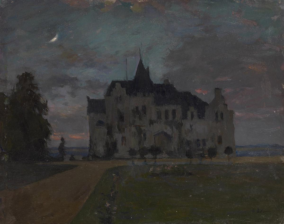 Isaac Levitan -  Twilight castle, 1898