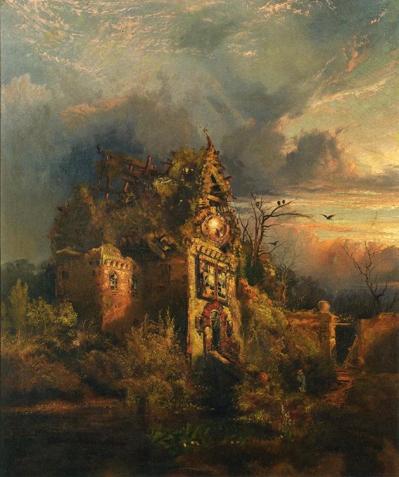 Thomas Moran - Haunted  House,  1858