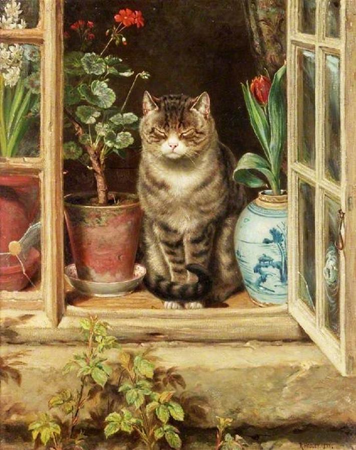 Ralph Hedley  (1848-1913)- Blinking in the Sun