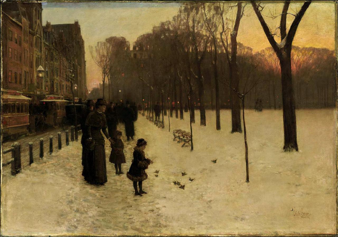 Childe Hassam - Boston Common at Twilight, 1885-86