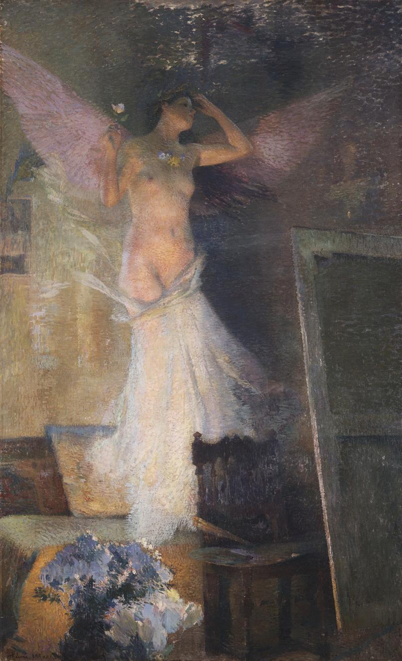 Henri Martin(1860-1943) - La Muse Du Peintre