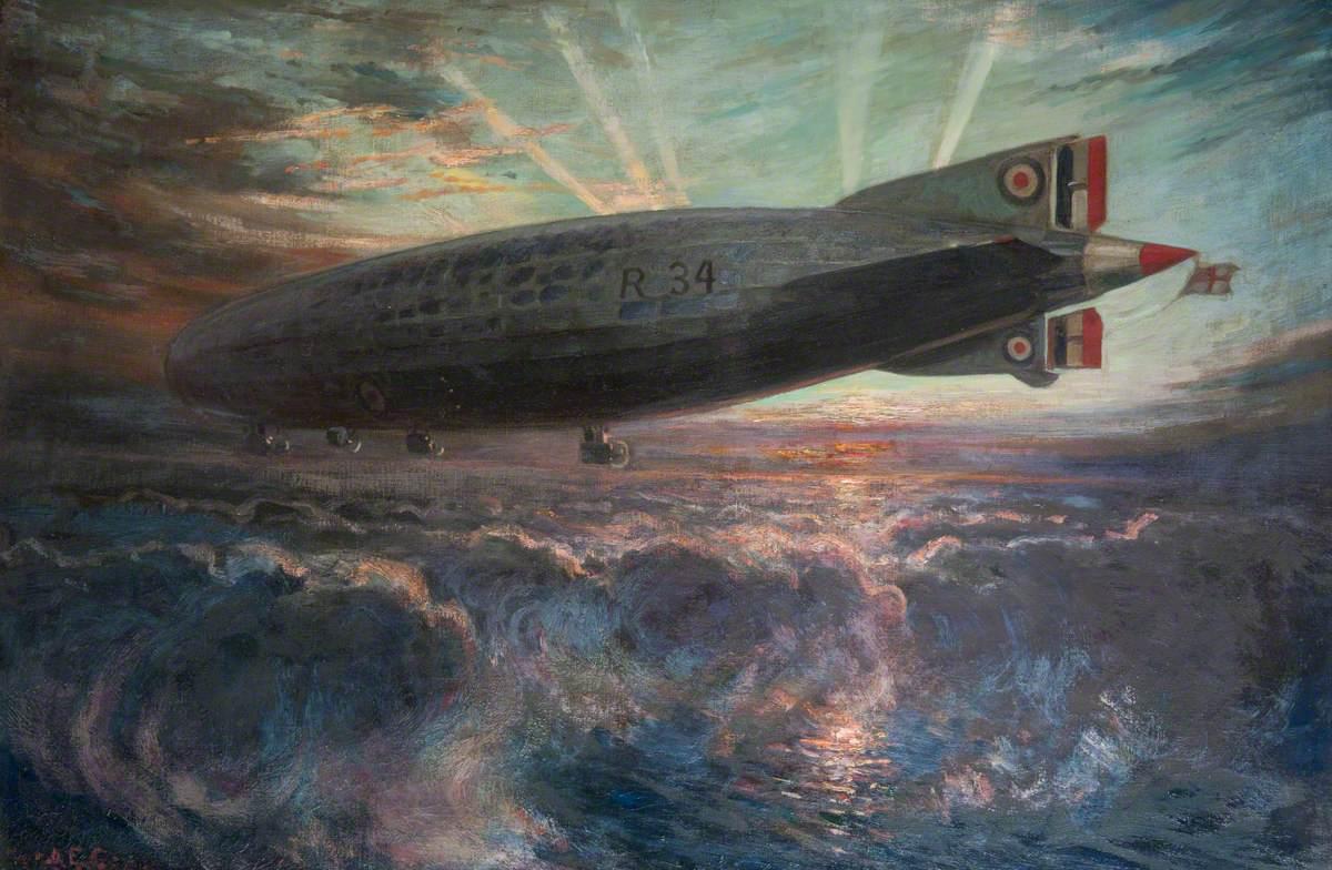 Alfred Egerton Cooper (1883–1974) - Airship R34