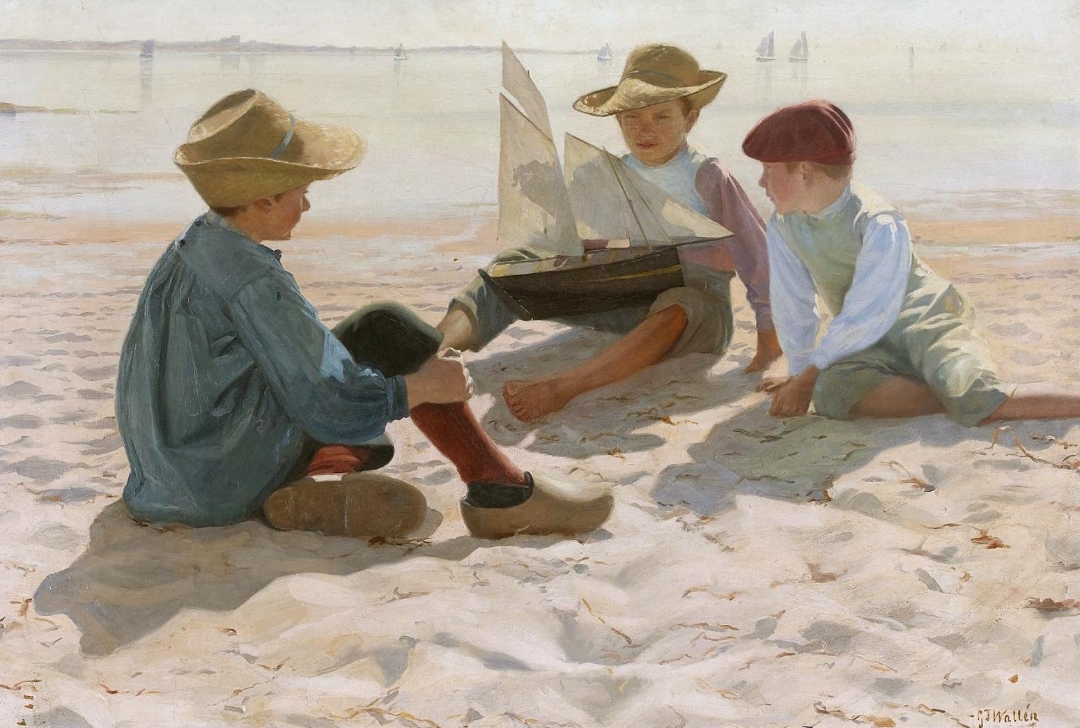 Gustaf Theodor Wallén (1860-1948) - Boys in the Sunlight