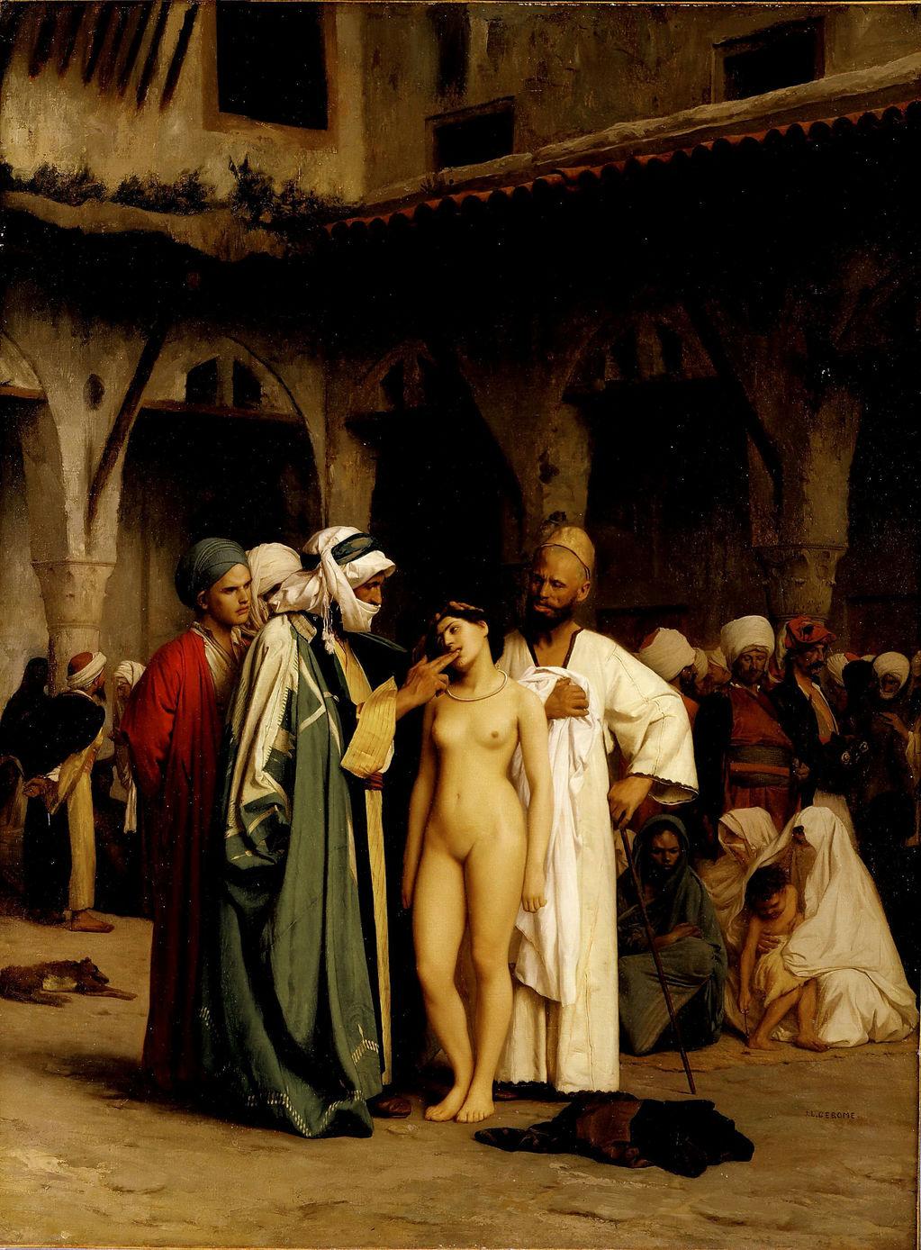 Жан -Леон Жером - ринок рабів 1870 р.