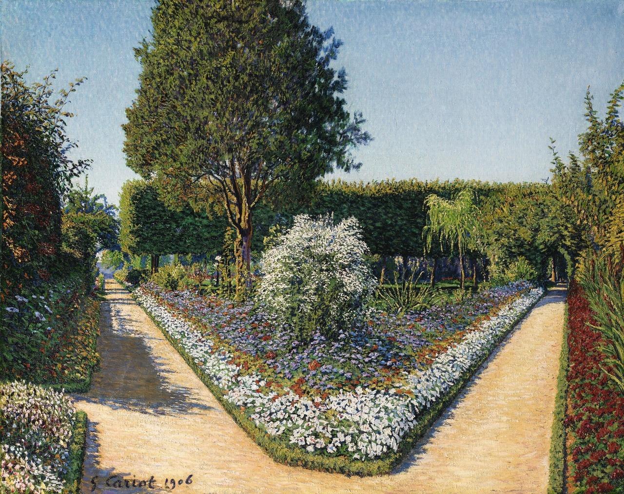 Gustave Cariot -  Le Jardin de Perrigny, Yonne - 1906