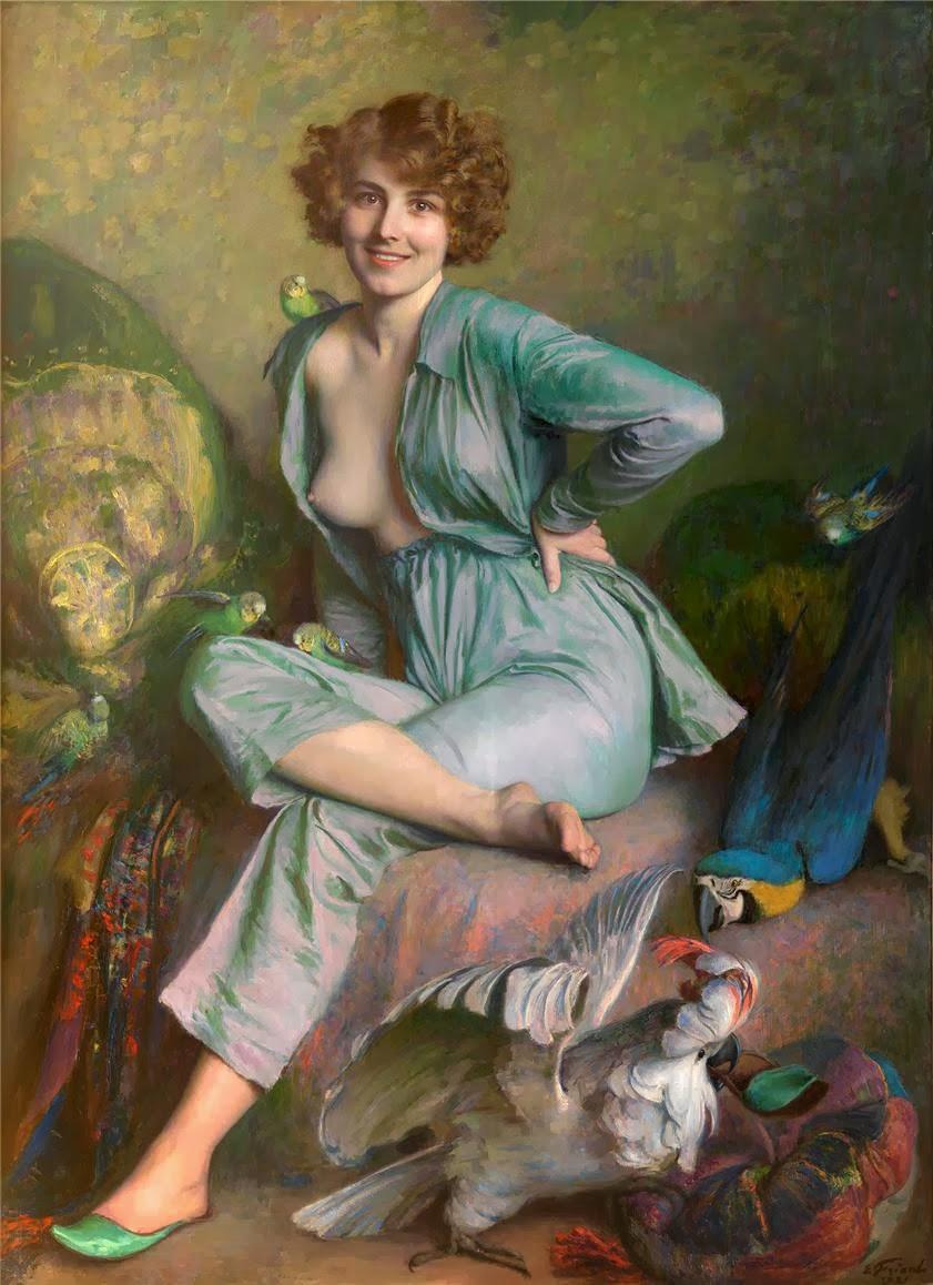 Émile Friant - The Birds, 1921