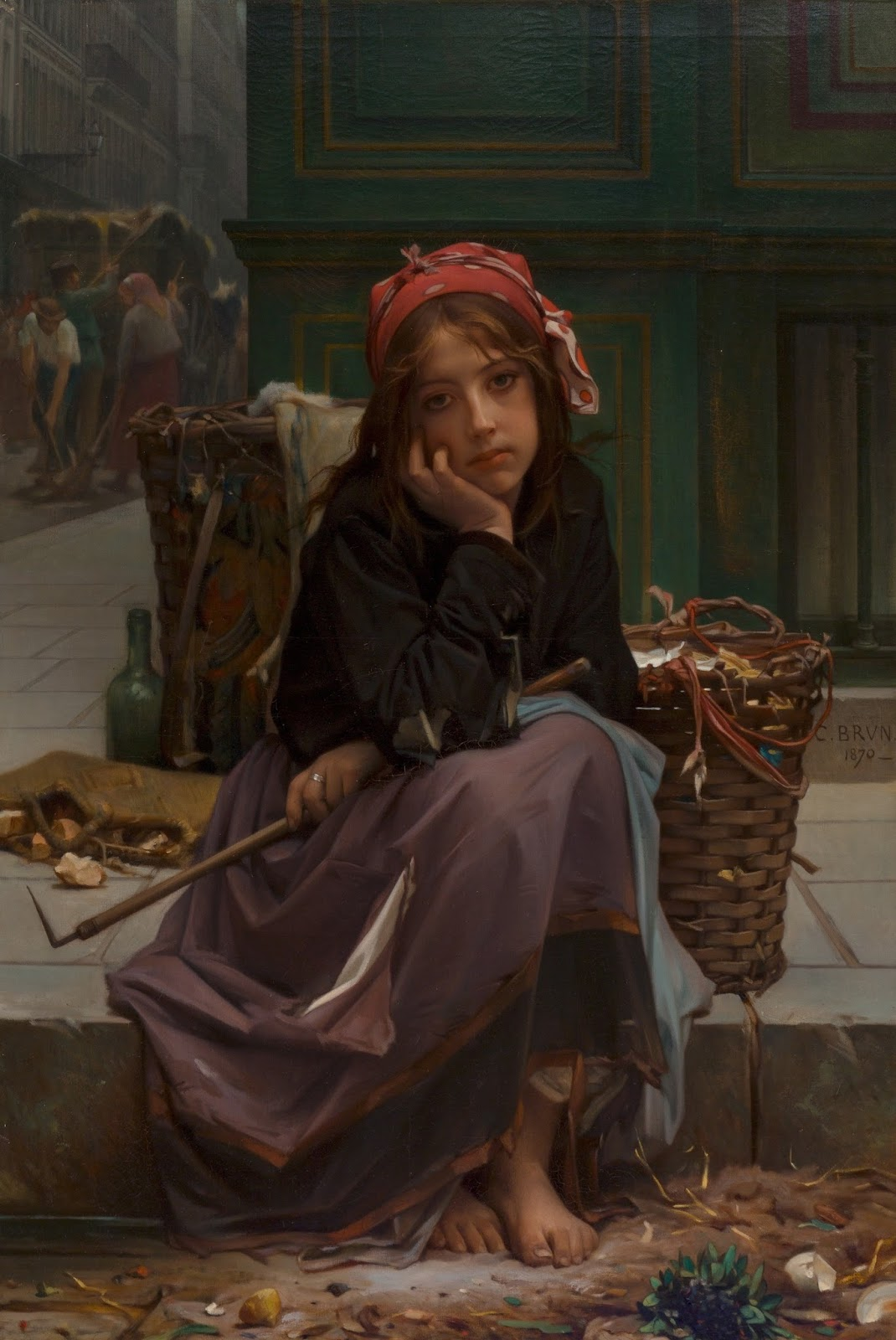 Guillaume Charles Brun -  Young Rag Seller, 1870