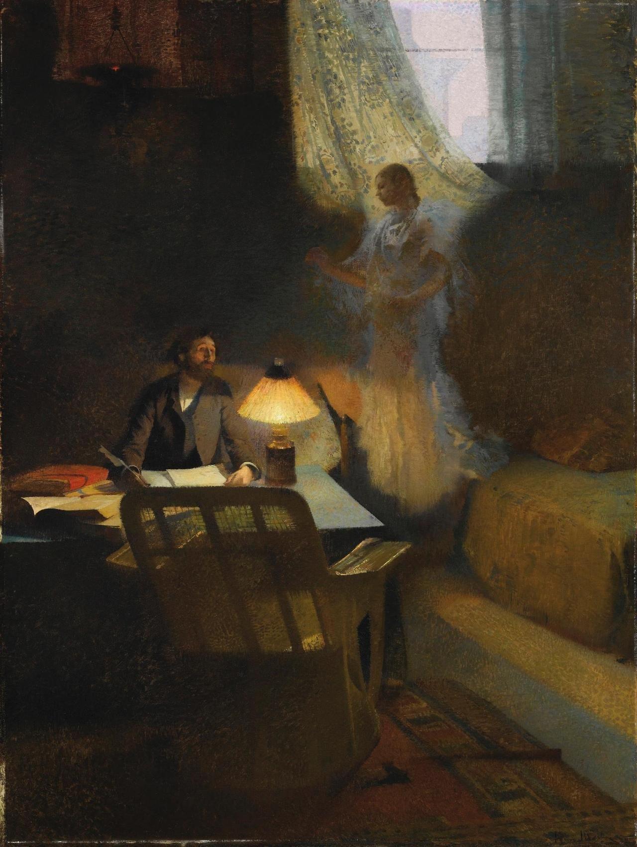 Henri Martin - Le philosophe ou l'inspiration du poète, 1888