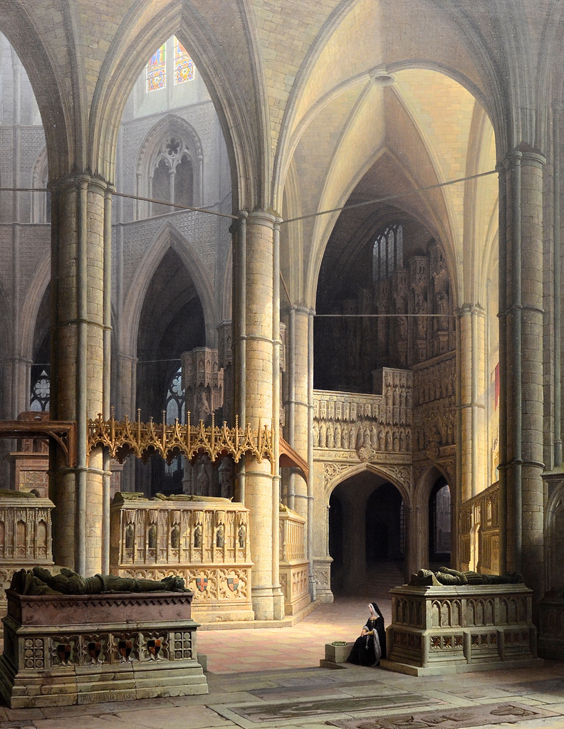 Max E. Ainmiller - The Choir of Westminster Abbey, 1858