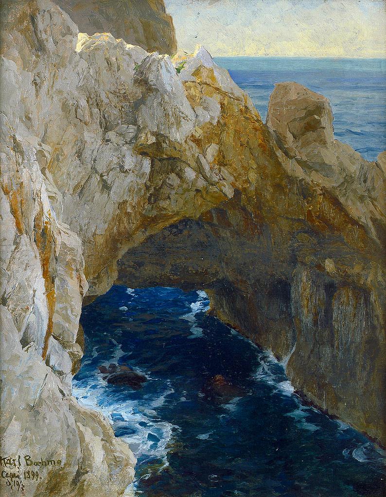 Karl Theodor Boehme  - Rocky Coast on Capri, 1899