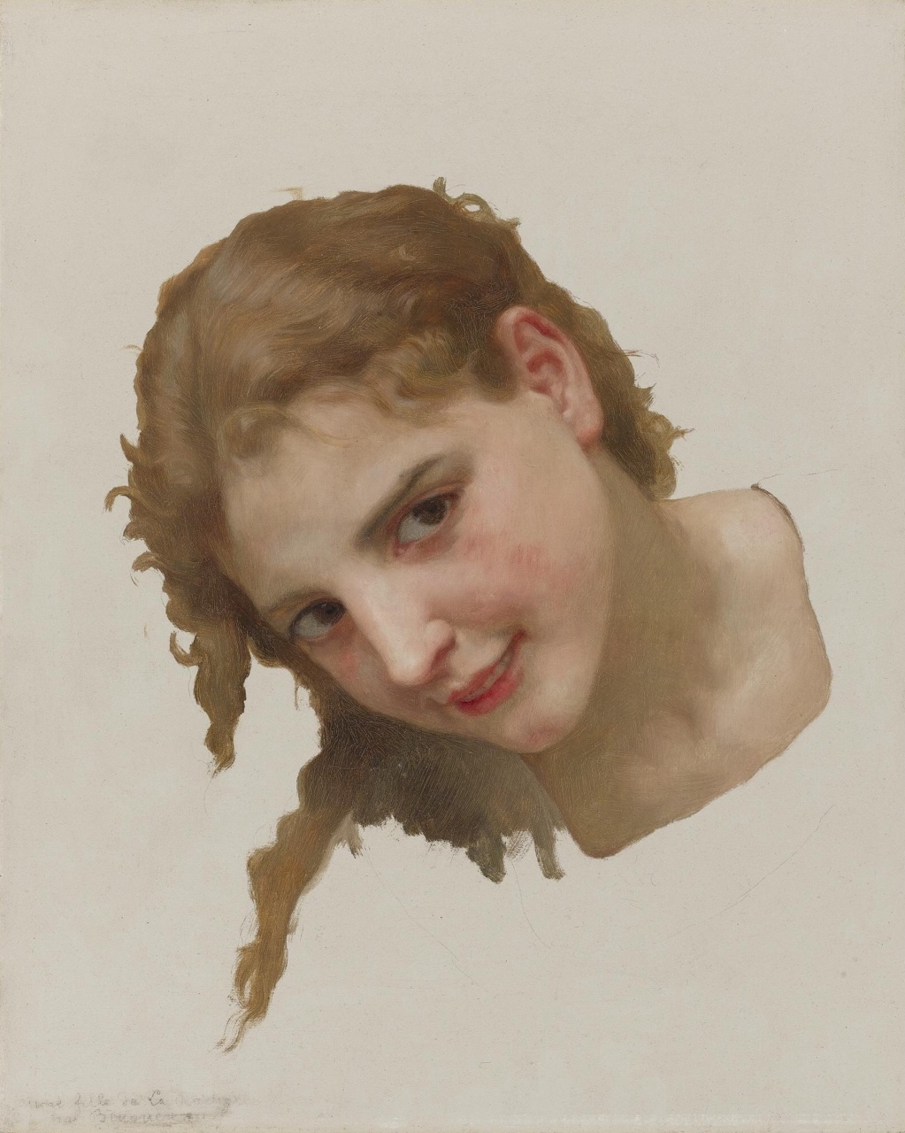 William Adolphe Bouguereau - study For Le Gue