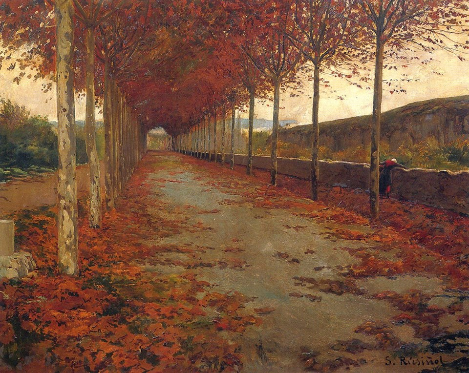 Santiago Rusiñol i Prats - Roadside in Autumn, 1888