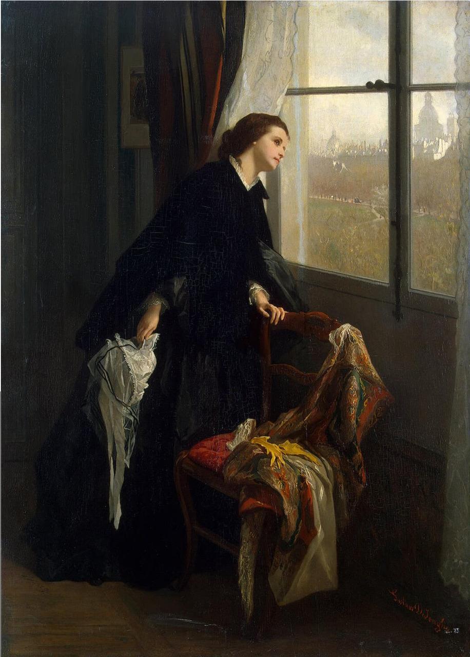 Gustave de Jonghe (1829-1893), Un Temps Changeant.