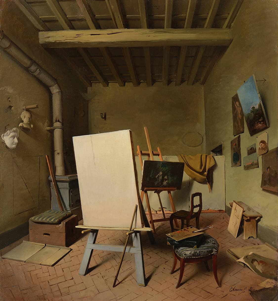 Chierici Gaetano  - The Artist Studio, 1860