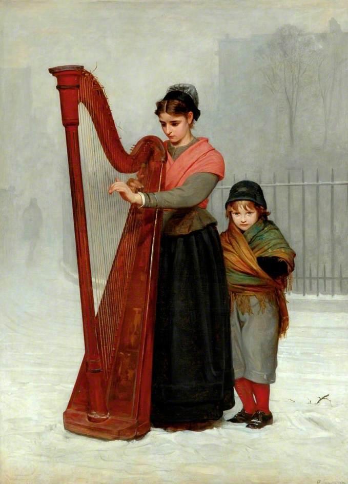 Philip Hermogenes Calderon - The Orphans 1870