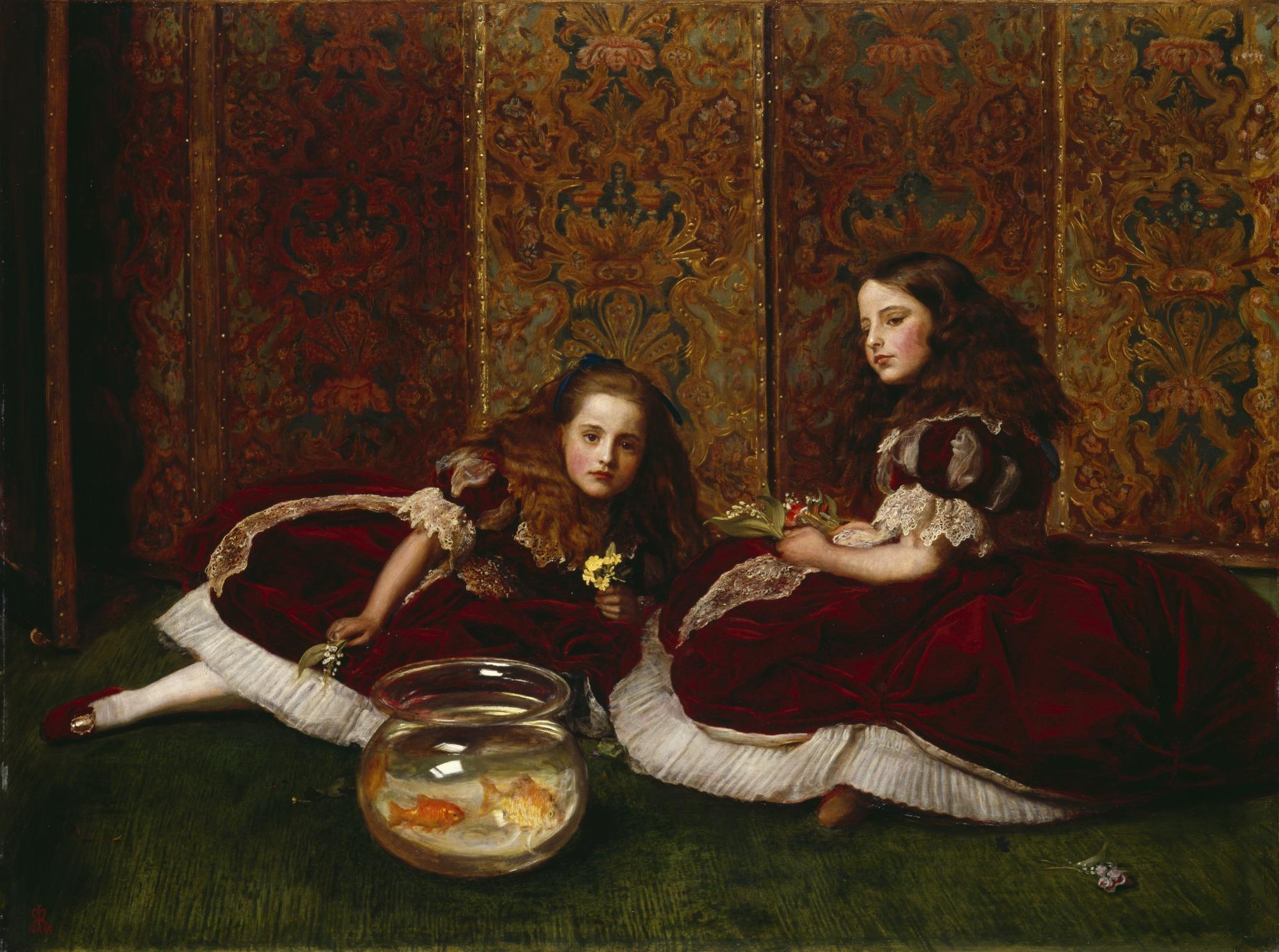 John Everett Millais - Leisure Hours,1864