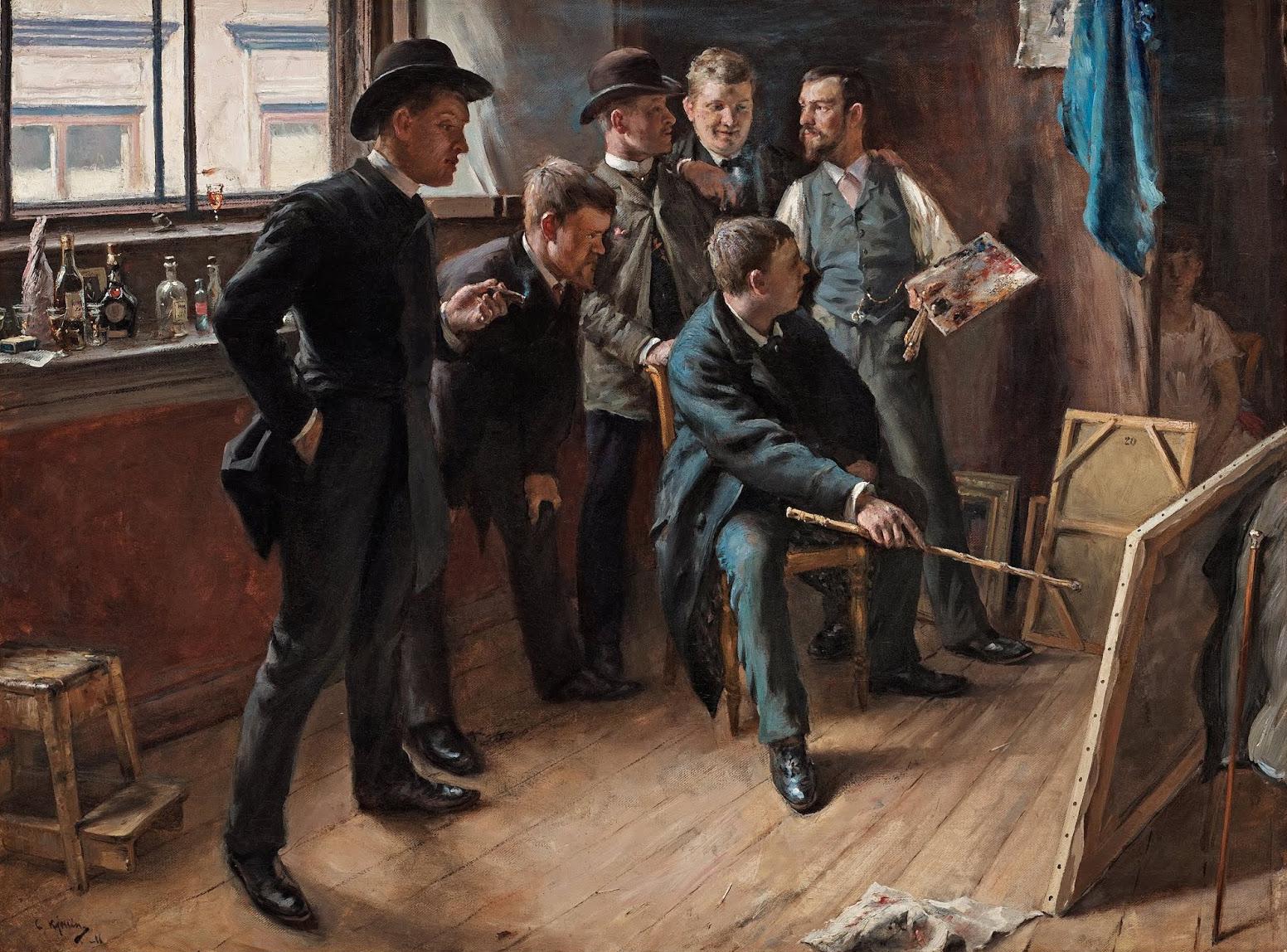 Carl Kjellin - In the studio, 1886