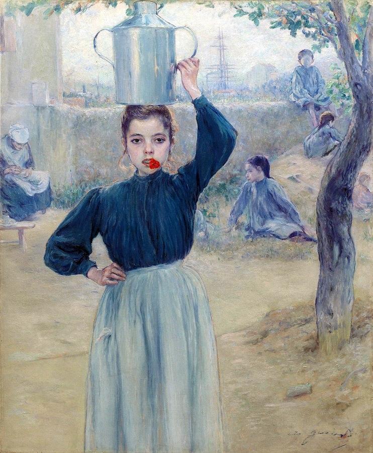 Adolfo Guiard, La aldeanita del clavel rojo, 1903