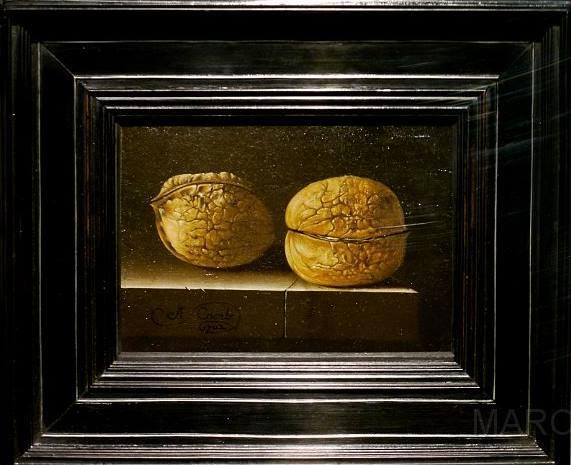 Adriaen Coorte - Two Walnuts, 1702