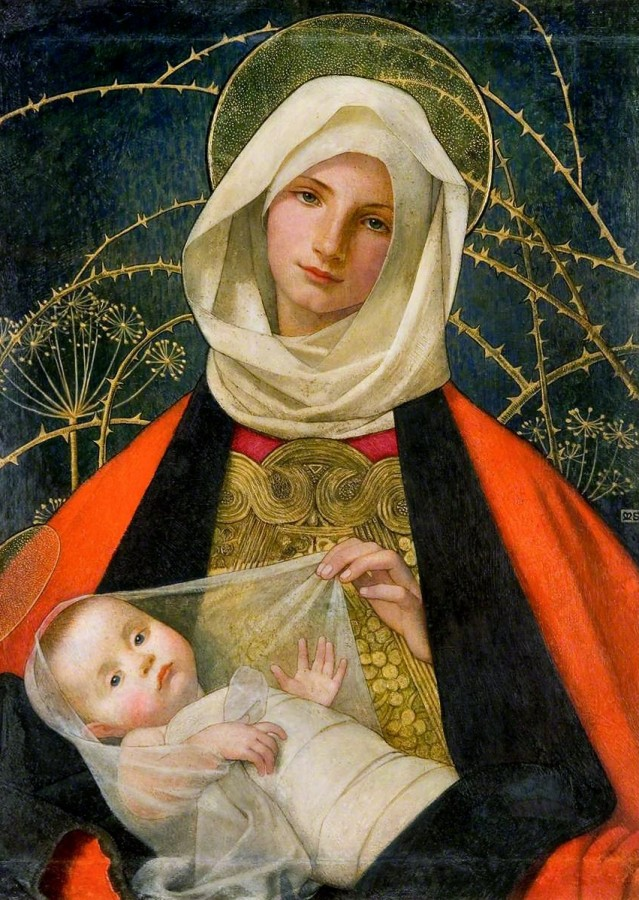 Marianne Stokes -  Madonna and Child, 1907