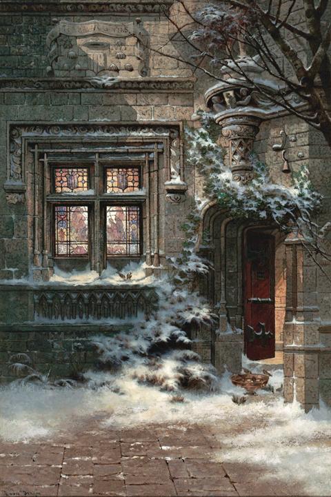 Edwin Deakin - Christmas Day  Hotel de Cluny , 1890