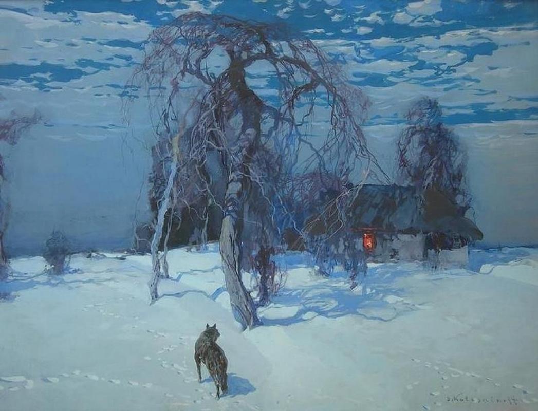 Stepan Kolesnikov (1879−1955) - Winter landscape