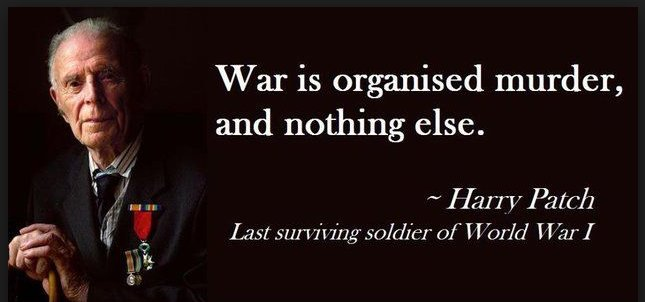 War is organized murder, and nothing else