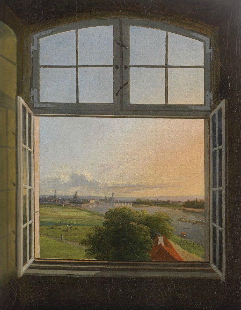 Karl Gottfried Traugott Faber - Vue de Dresde, 1824