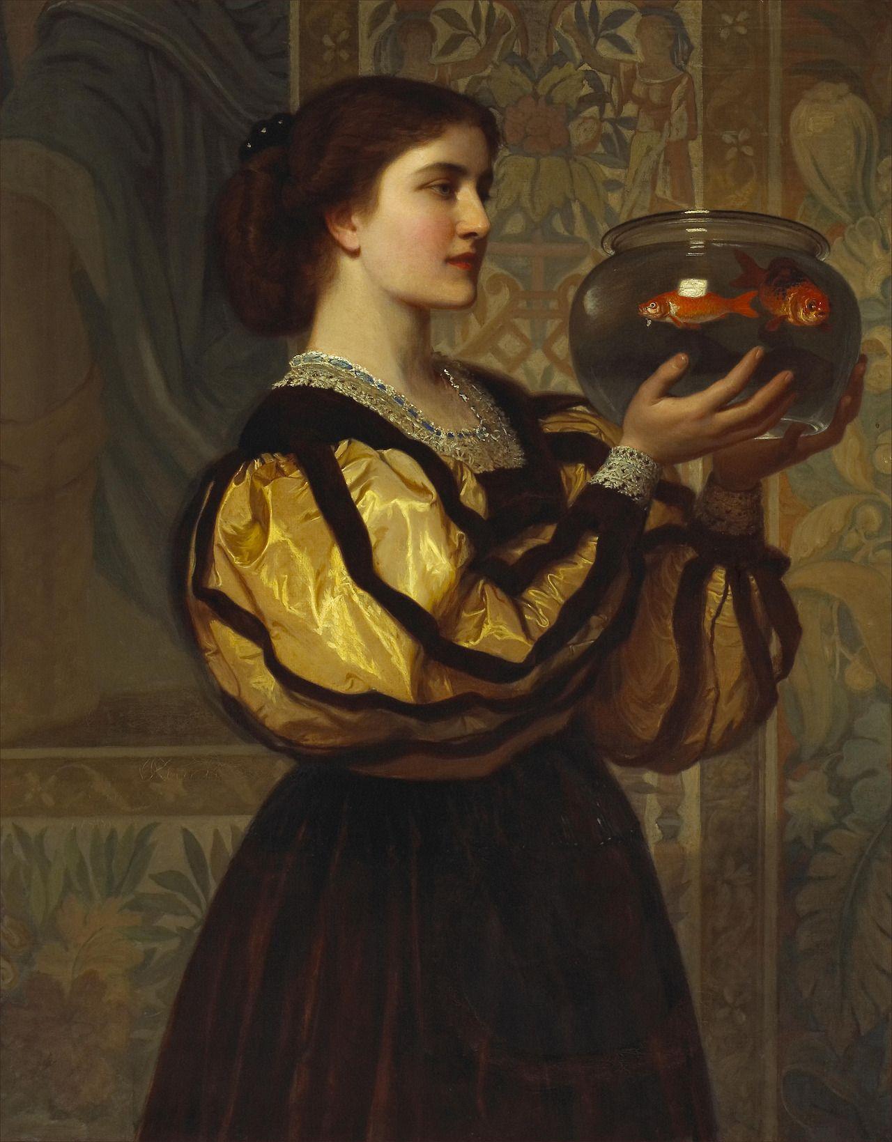 Charles Edward Perugini - The goldfish bowl, 1870