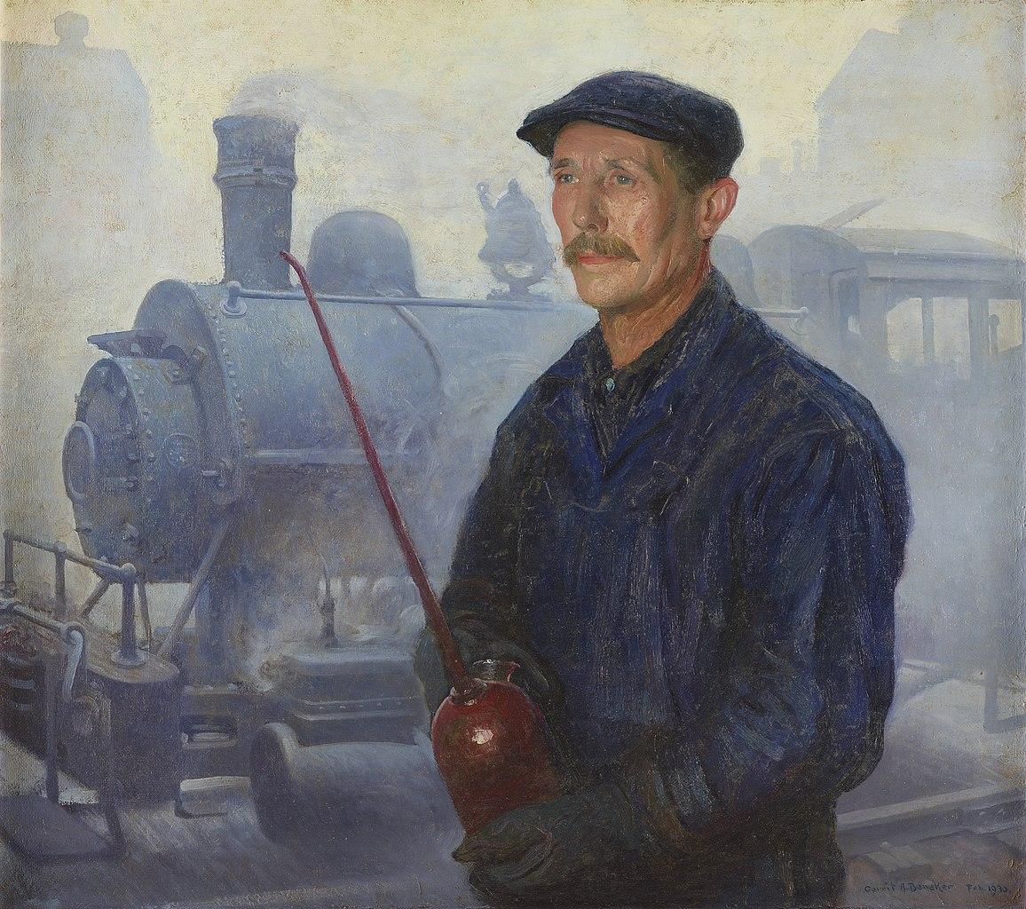 Gerrit Beneker - Portrait of Reinhart Geiger, locomotive engineer, 1930
